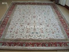 亚美地毯厂在广州批发手工真丝波斯地毯