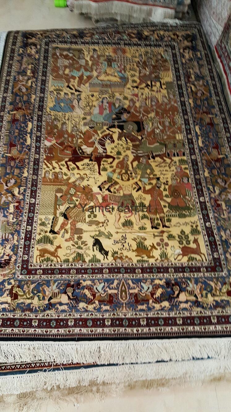123屆廣交會優恵金絲挂毯 天然植物染色絲綢挂毯8x5ft 2
