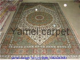 124届广交会优恵金丝挂毯 天然植物丝绸挂毯 1
