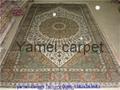 123屆廣交會優恵金絲挂毯 天然植物染色絲綢挂毯8x5ft 1