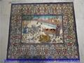 handmade pure 100% silk carpet Art