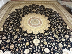 new design iranian handmade silk carpet