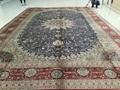 Persian silk carpet for Large Handmade-Persian wealth 1