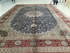 Large handmade silk Persian carpet for Persian wealth