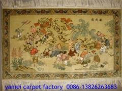 出口水洗紅樓夢挂毯,美女挂毯 藝朮地毯