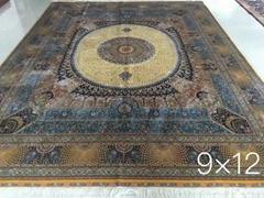 广州批发最新设计手工真丝波斯地毯