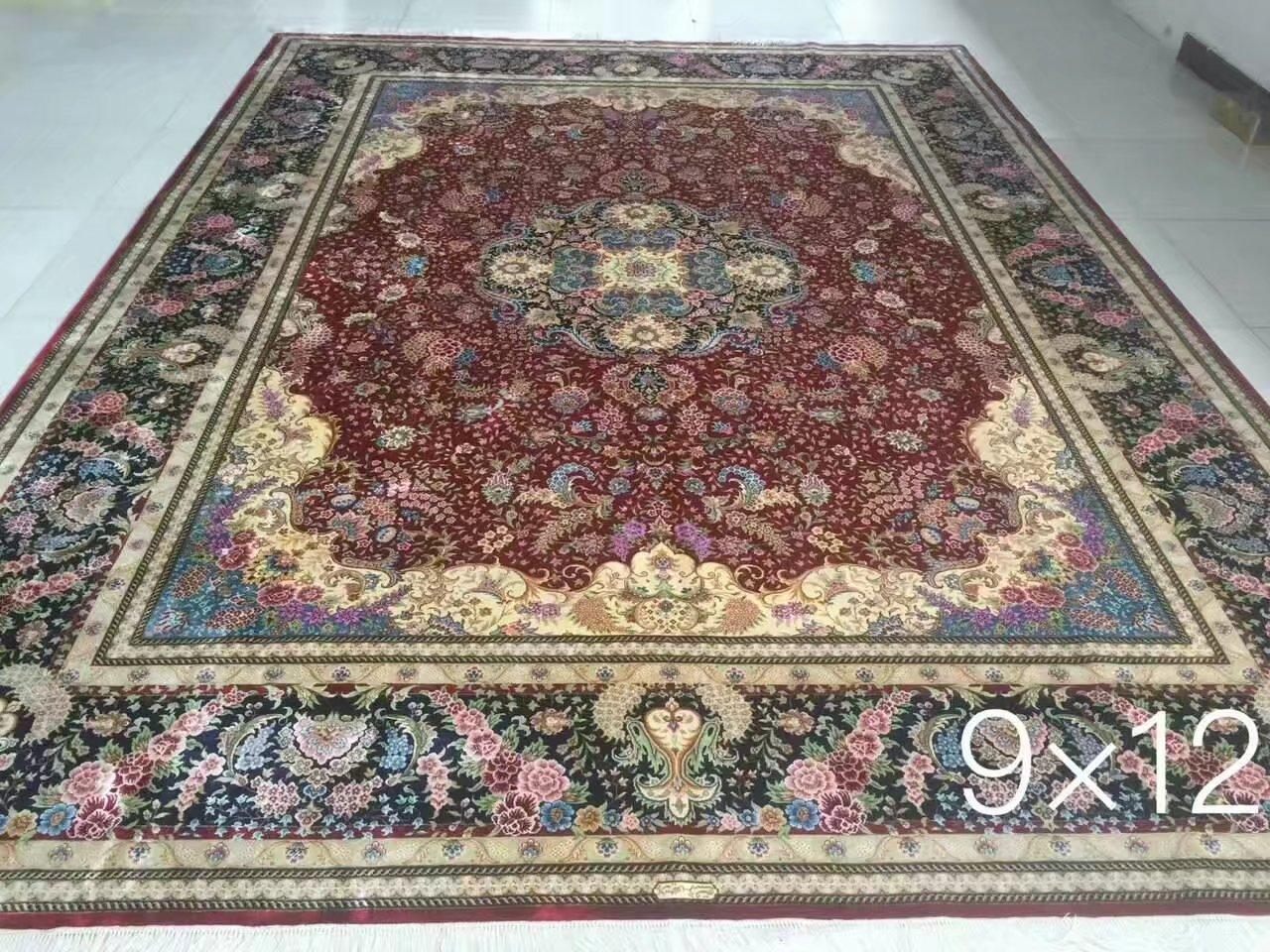 广州批发最新设计手工真丝波斯地毯 2