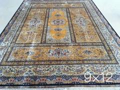 批发  设计 silk carpet 手工真丝波斯地毯