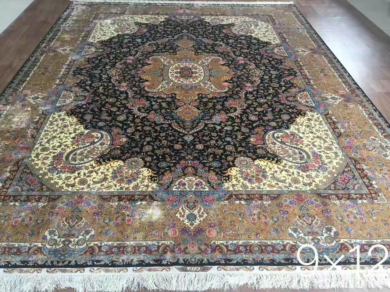 guangzhou wholesale new design handmade persian silk carpet 4