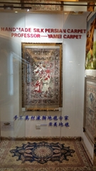 handmade silk antique tapestry