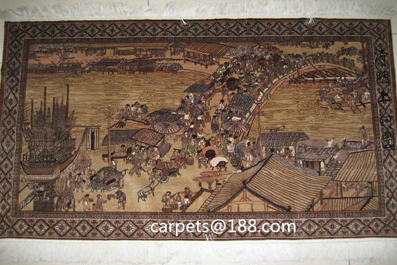 手工真丝古老收藏型挂毯 1