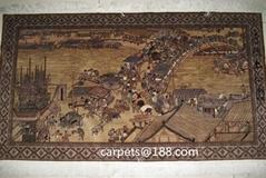 优惠供手工真丝古老收藏型挂毯