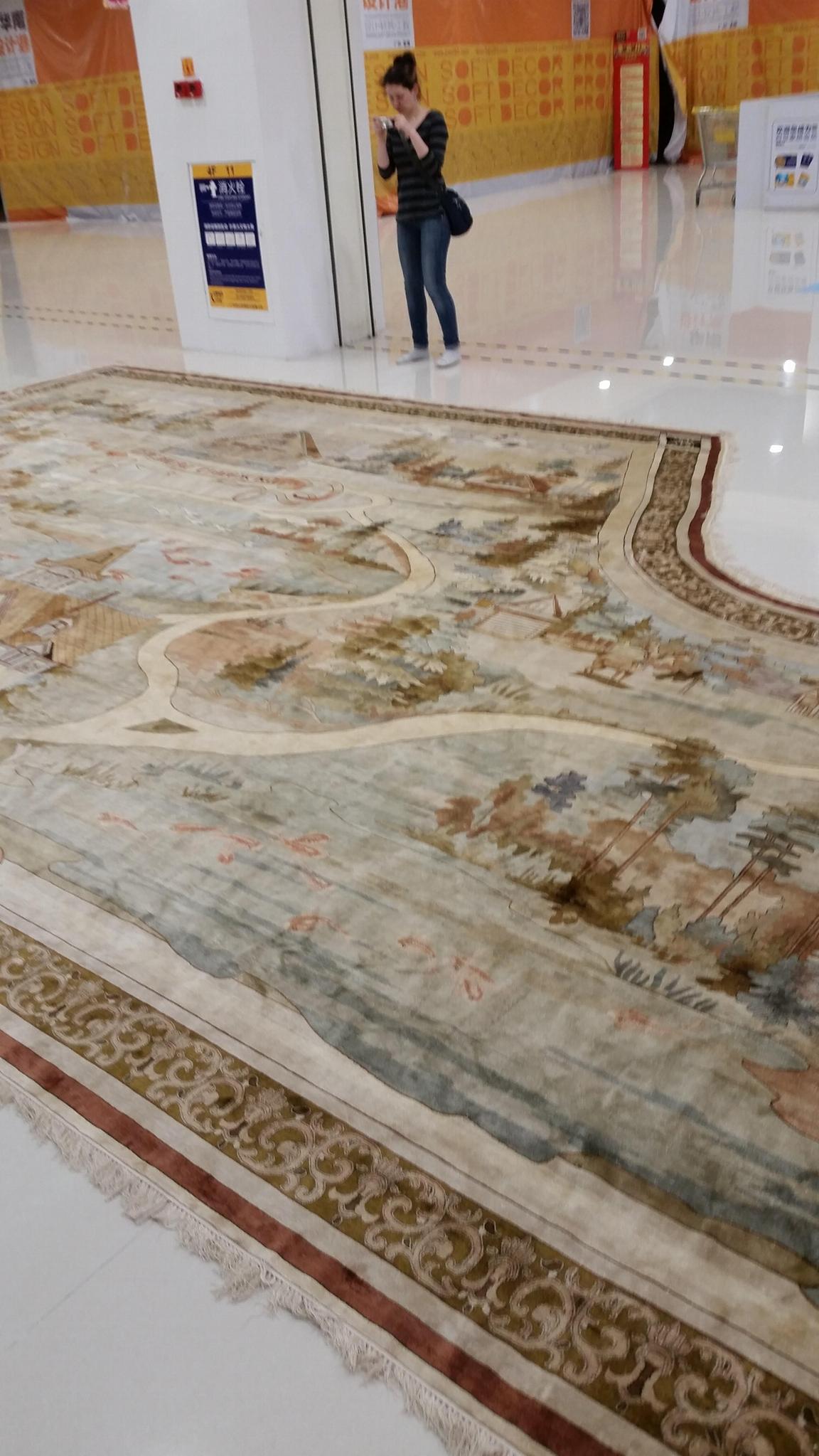 手工真丝古老收藏型挂毯 5