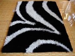 亚美生产长毛冰丝地毯 批发现代地毯
