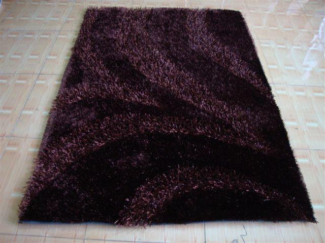 亚美生产长毛冰丝地毯 4