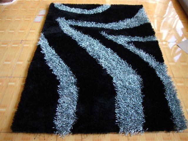 亚美生产长毛冰丝地毯 5