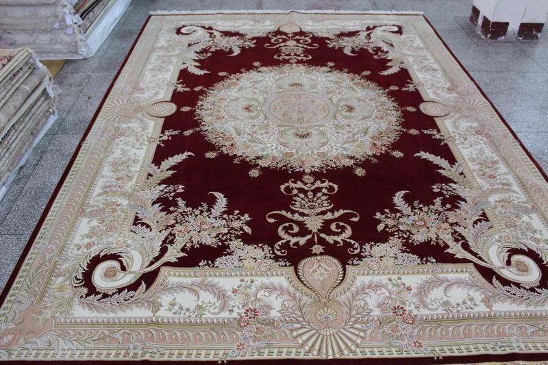生产,波斯风格 手工丝毛合织地毯 500L 10X14ft 厂价热销 1