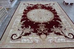 生產,波斯風格 手工絲毛合織地毯 500L 10X14ft 廠價熱銷