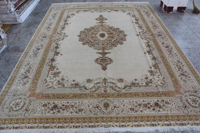 生产,波斯风格 手工丝毛合织地毯 500L 10X14ft 厂价热销 2