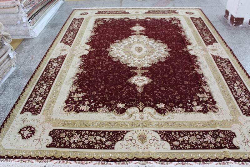 生产,波斯风格 手工丝毛合织地毯 500L 10X14ft 厂价热销 3