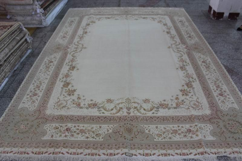 Production of hand-made wool & silk carpet,10x14ft persian carpet whosale price 4