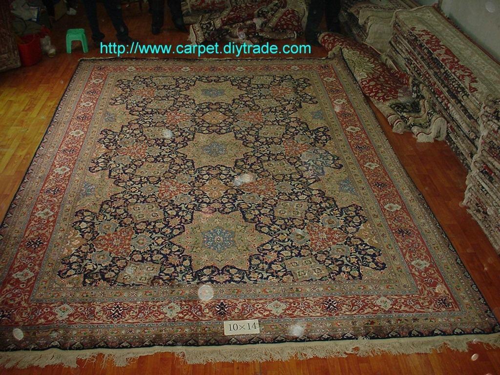 guangzhou handmade factory wholesale silk and wool Persian carpet,13826288657  1