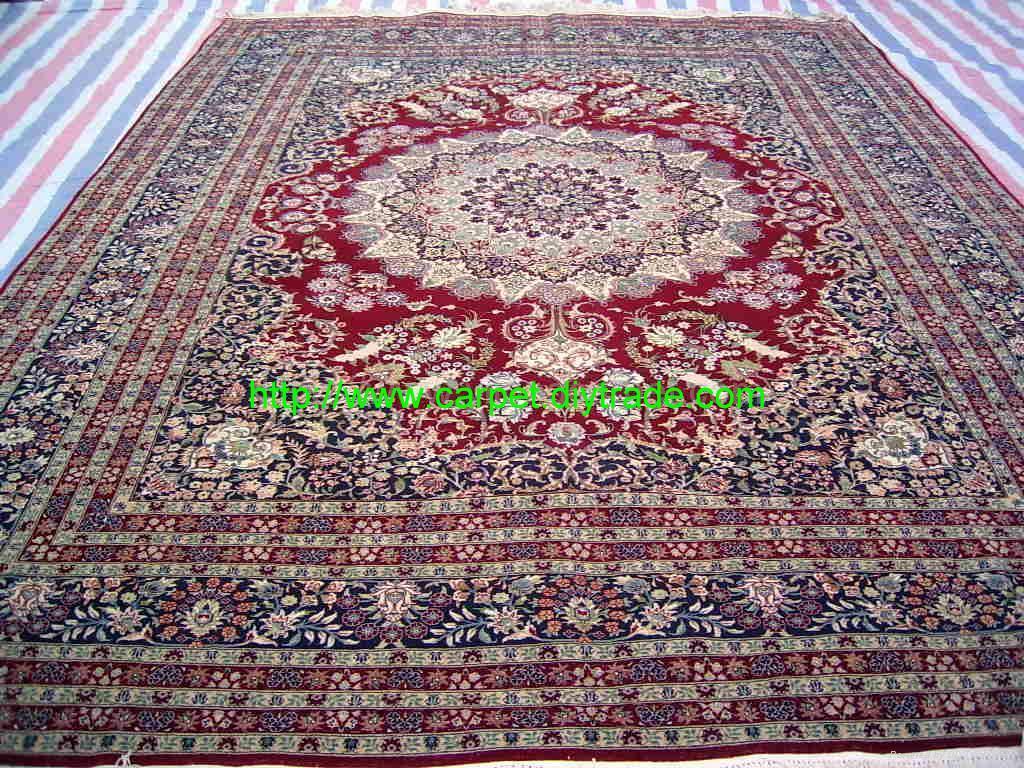 guangzhou handmade factory wholesale silk and wool Persian carpet,13826288657  3