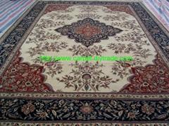 专业生产手工地毯,订制丝高级毛合织地毯及挂毯