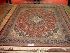 亚美生产地毯,高档8x10ft手工羊毛地毯和挂毯