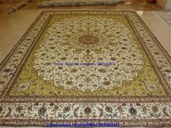 供應 500L真絲地毯 手工打結波斯 外貿地毯 美國地毯