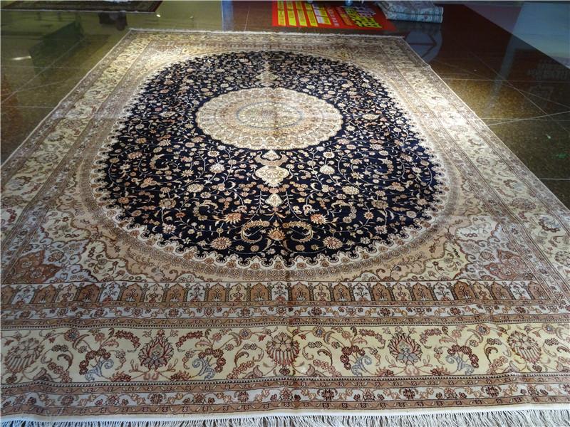 亚美天然蚕丝,热销出口,手工波斯地毯 1