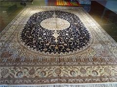 亚美天然蚕丝,热销出口,手工波斯地毯