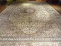 工廠直銷真絲地毯,出口歐美純手