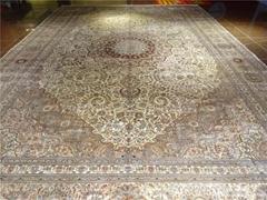 廠價直銷純手工波斯風格 真絲地毯 600L 波斯地毯 歐美 美式鄉村