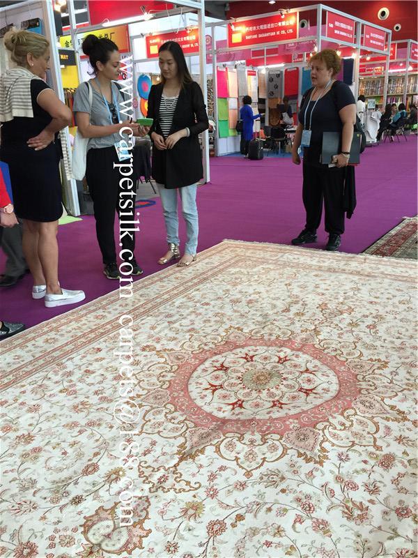 与奔驰同级的亚美传奇手工真丝地毯-亚美地毯厂生产 3