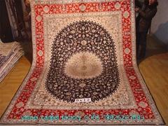 独特的亚美,世界公认的品质,桑蚕丝手工地毯织的好!好!