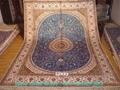 世界公认亚美桑蚕丝手工地毯织的