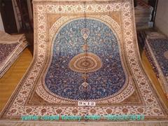 波斯富贵 世界公认亚美桑蚕丝手工地毯织的好!