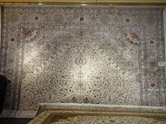Hand woven, Persian pattern, silk material, brilliant