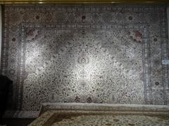 国务院新闻大厅专用地毯,真丝材料 手工织做,波斯图案,光彩奕人