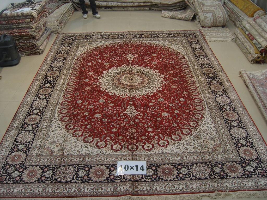 亚美地毯厂在广州环市中路303号批发手工真丝波斯地毯 1