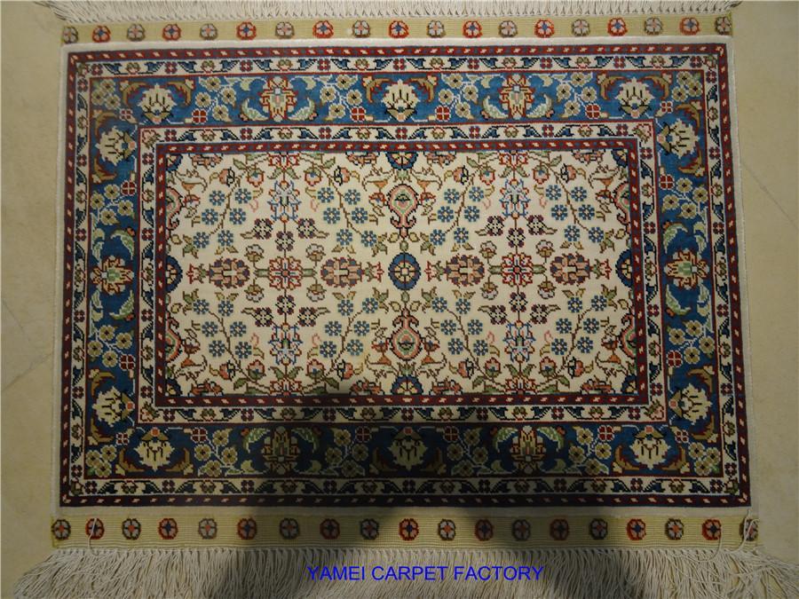 Exquisite Nature Silk Hand Manual Living Room Bedroom Decorative Persian Art rug 1
