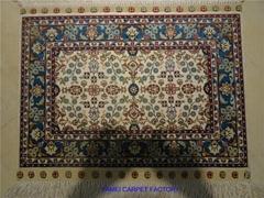 精致的自然丝绸手工客厅卧室装饰波斯艺术地毯
