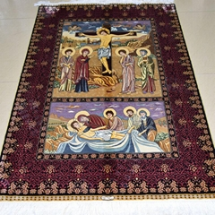 Wholesale handmade carpet silk art tapestry reappearance golden splendor sunshin