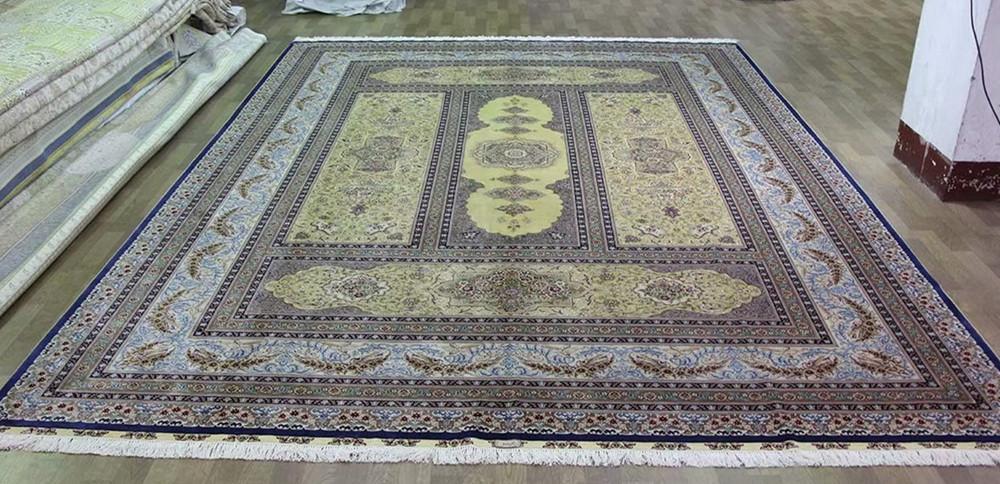 供应手工打结真丝地毯 伊朗图案 红色系列挂毯 500L (波斯图案) 1