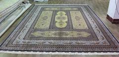 供应伊朗图案 红色系列挂毯 500L (波斯图案),手工打结真丝地毯