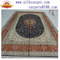 生產手工波斯地毯/地毯酒店客房大堂手工地毯-豪華地毯