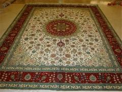 亚美厂生产手工波斯地毯,波斯图案,真丝材料