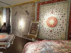 定制手工高级挂毯及羊毛地毯 9x12ft,波斯图案