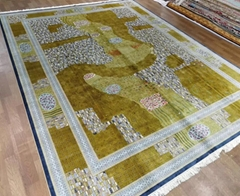 必讓你身價上百億元的16x24ft亞美手工真絲客廳地毯